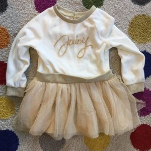 3for$15 Juicy Couture Velvet and Tulle Baby Dress